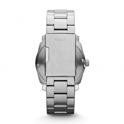Machine Three Hand Stainless Steel Watch