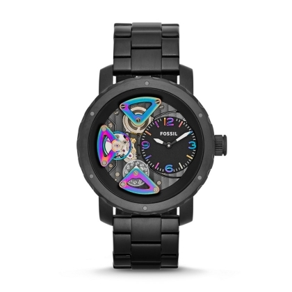 Nate Multifunction Stainless Steel Watch - Black