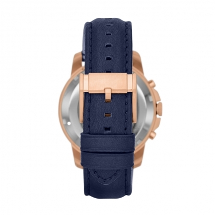 Grant Automatic Leather Watch - Blue