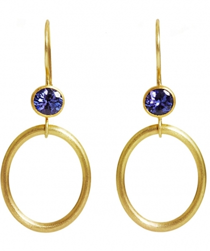 Tanzanite Jump Through Hoops Earrings