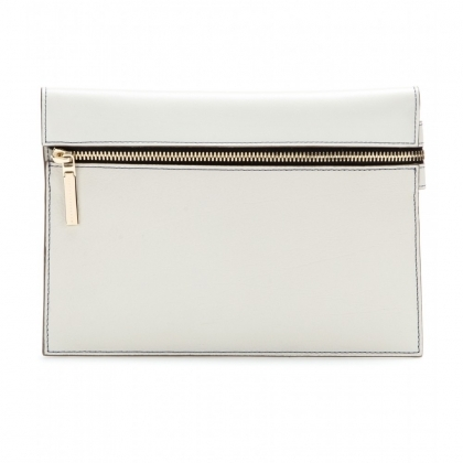 Small Zip leather clutch