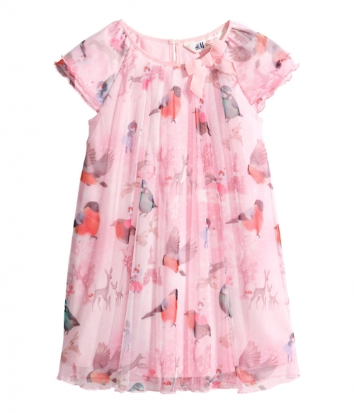 Patterned Birdy tulle dress
